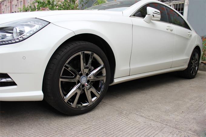 奔驰cls300 18寸烤漆轮毂电镀后整车效果图高清图片